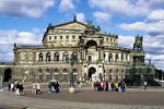 Theaterplatz mit Semperoper